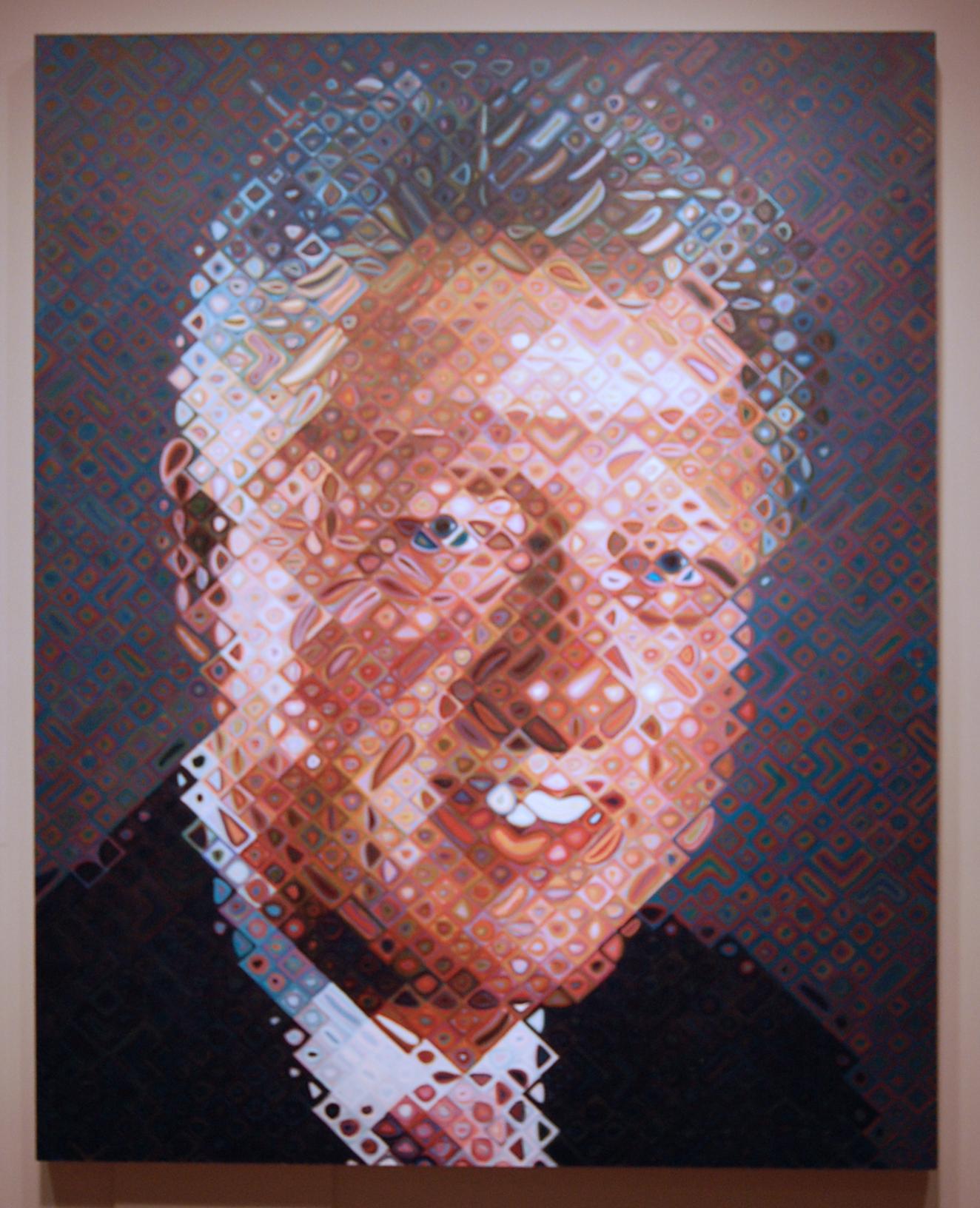 Chuck Close Bill Clinton Thinkvisual S Blog