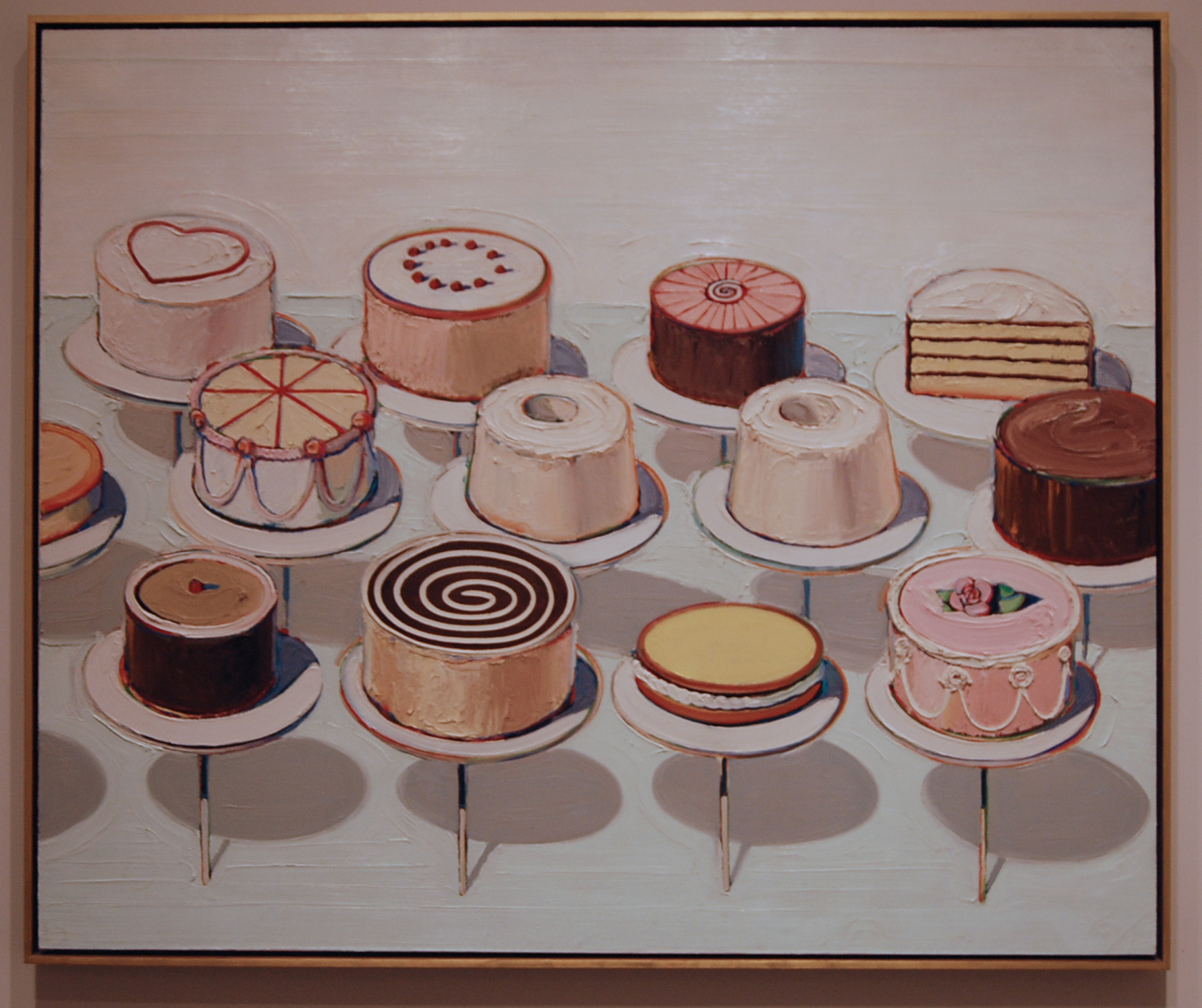 Wayne Thiebaud Cakes 1963 Thinkvisual s Blog